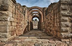 Stock Photo of main entrance of amphitheatre of merida