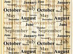 Stock Illustration of Months