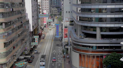 Medium aerial view - wanchai road Stock Footage