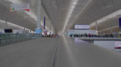 Upper level - hong kong international airport Stock Footage