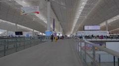 Upper level - hong kong international airport 2 Stock Footage