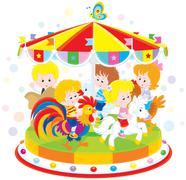 Carousel - stock illustration