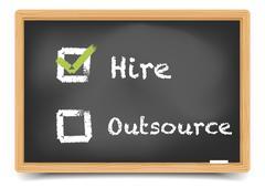 blackboard hire outsource - stock illustration