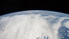 4K UHD Space Station pass over Southern California to Hudson Bay - stock footage