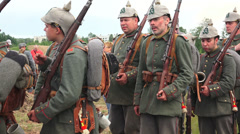 The guard of German soldiers. The first world war. WWI. 4K. Stock Footage