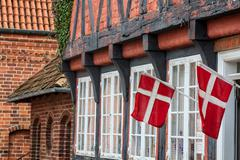 Half timbered traditional house in ribe denmark Stock Photos