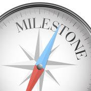 compass milestone - stock illustration