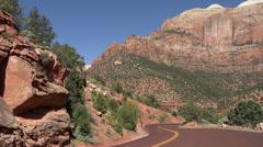 Zion National Park Utah RV bus tourism HD Stock Footage
