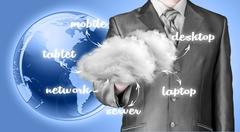 Stock Illustration of Cloud computing, technology connectivity concept