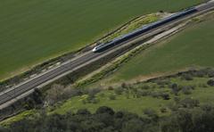high-speed train - stock photo