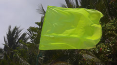 Stock footage alarm flag in the wind Stock Footage