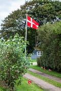 Danish flags are visible on the picture Stock Photos