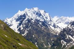Caucasus rockies in russia Stock Photos