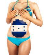 Stock Illustration of honduras girl