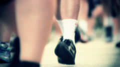 Marathon Runners Crowd  11 Stock Footage