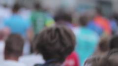 Marathon Runners Crowd 10 Stock Footage
