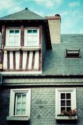 Stylized half-timbered house. etretat is a commune in the seine Stock Photos