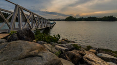 Cloudy Sunset At Putrajaya Wetland Stock Footage