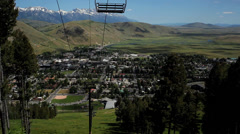 Timelapse of Jackson Hole with Chair lift in view Stock Footage
