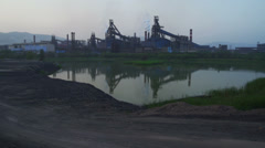 Iron Factory in China Stock Footage