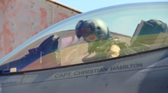 F-16 jet fighter aircraft Stock Footage