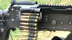 Browning M2 .50 Caliber Machine Gun and M240G Medium Machine Guns Stock Footage