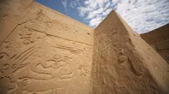 Big walls of the Huaca Arco Iris in Trujillo, Peru Stock Footage
