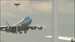 Air Force One - stock footage