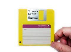 fujifilm floppy disk. - stock photo