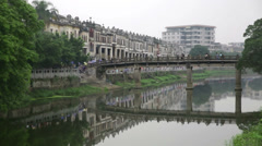 Stock Video Footage of Kaiping River Front Street