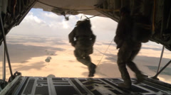 C-130 Hercules operations - stock footage
