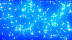 Blue Glowing Stars Background Loop 1 Dense - stock footage