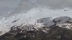 timelapse clouds ,mountains, snow  - stock footage