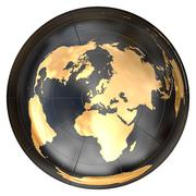 Worldmap in azimuthal projection (Europe) Stock Illustration