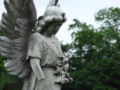 Angel of stone Stock Photos