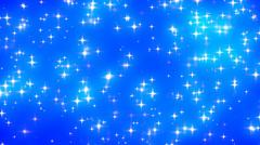 Blue Glowing Stars Background Loop 2 Dense - stock footage