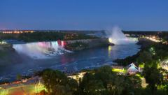 4K Time Lapse of Niagara Falls Day to Night Stock Footage