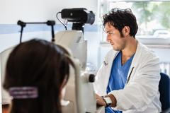 Young ophthalmologist Stock Photos