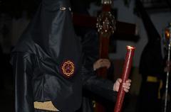 nazarene with candle - stock photo