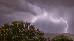 HD lightning micro burst monsoon extreme time lapse Stock Footage