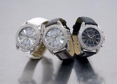 Three glamour watches - stock photo