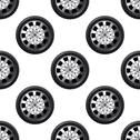 Stock Illustration of automobile wheel seamless pattern