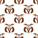Stock Illustration of wise old owl seamless background pattern