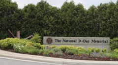 National D-Day Memorial Entrance Stock Footage