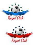 Stock Illustration of royal club soccer championship emblem