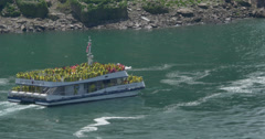 4K Niagara Falls Tourboat Stock Footage