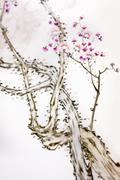 Ancient Traditional Artistic Plum Blossom Pattern Stock Photos