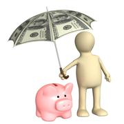 Stock Illustration of Financial protection