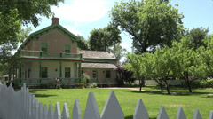 St George Utah Brigham Young winter home HD 140 Stock Footage