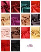 Silk fabric collection Stock Illustration